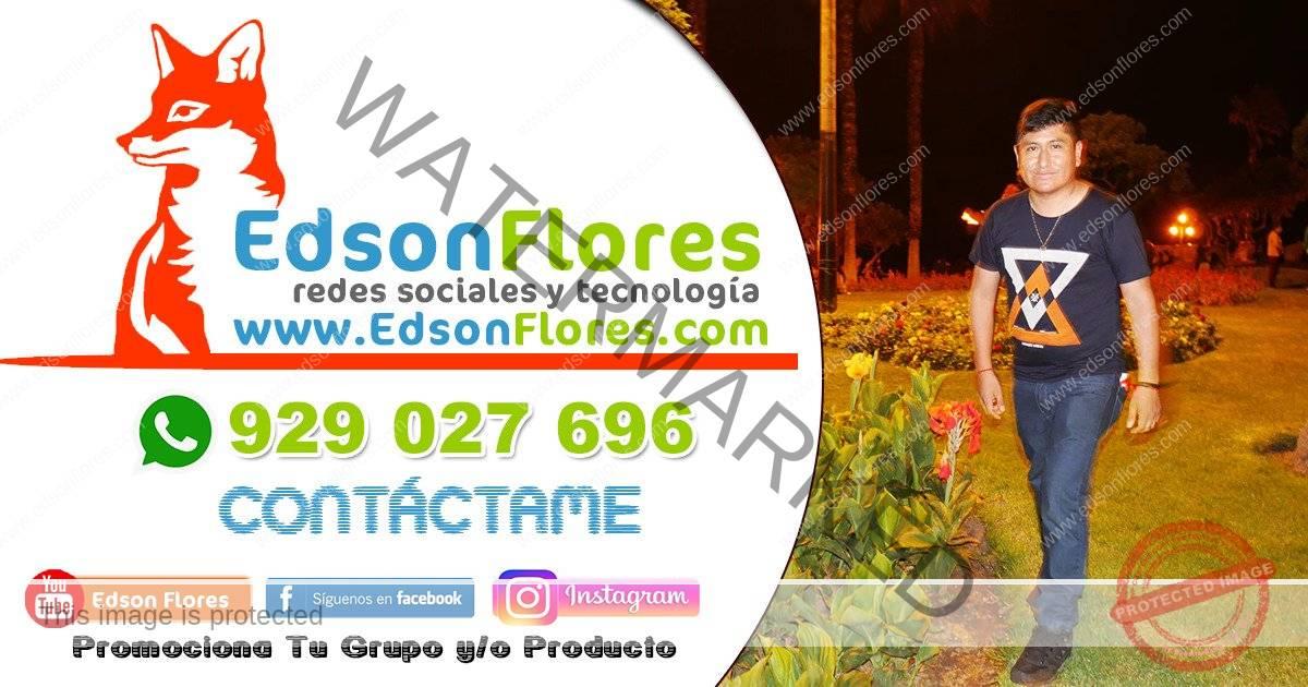 contáctame Edson Flores LEANDRO EL DULCE