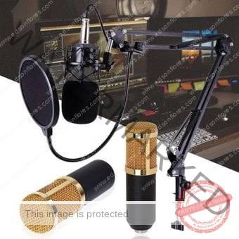 Micrófono condensador BM-800 Dorado